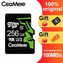 CeaMere 256GB 128GB 64GB karty pamięci U3 UHS 3 karta Micro sd o pojemności 32GB Class10 UHS 1 karty flash pamięci Microsd TF/SD karty do tabletu