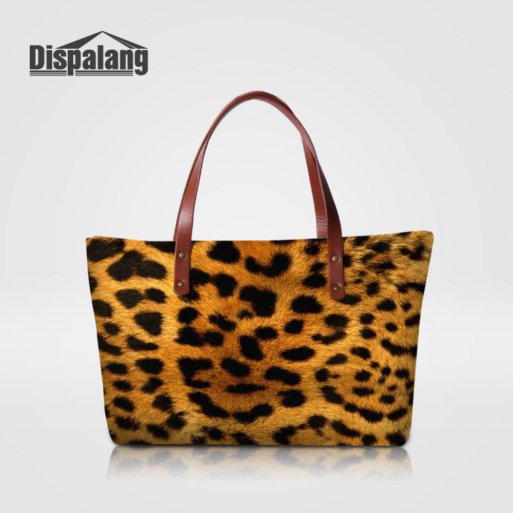 Dispalang Leopard Print Fashion Women Handbags Female Shoulder Bag Vintage Messenger Bag Ladies Casual Tote Bags Bolsa Feminina forudesigns casual women handbags peacock feather printed shopping bag large capacity ladies handbags vintage bolsa feminina
