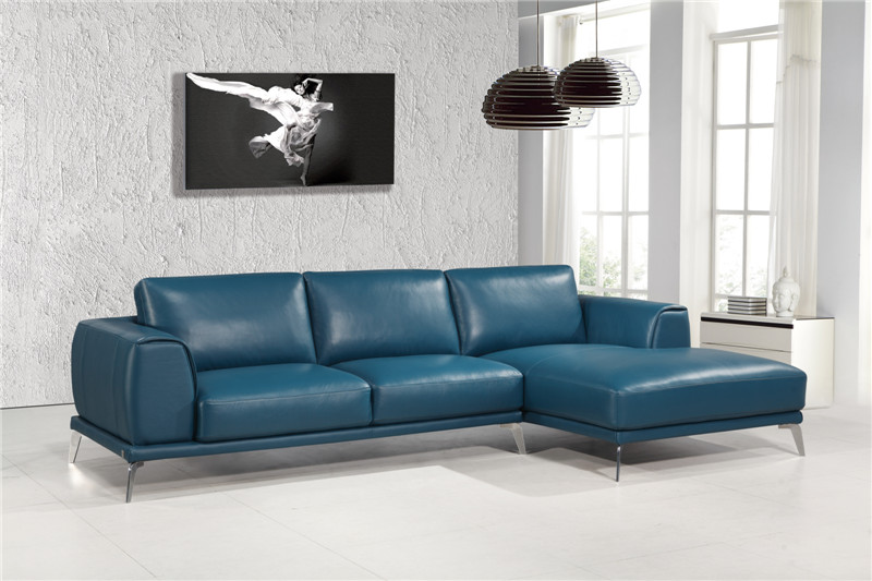 Blue Italian Leather Sofa  TheSofa