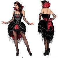 שחור באיכות גבוהה תלבושות ערפד ליל כל הקדושים תחפושות סקסי אישה קלאסית מלכת ערפדי יומן 2018new שמלת בגדי קוספליי