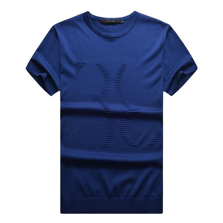 Camiseta de manga corta de verano 2016 cómoda cuello redondo casual con aspecto bonito envío gratis-in Camisetas from Ropa de hombre    1