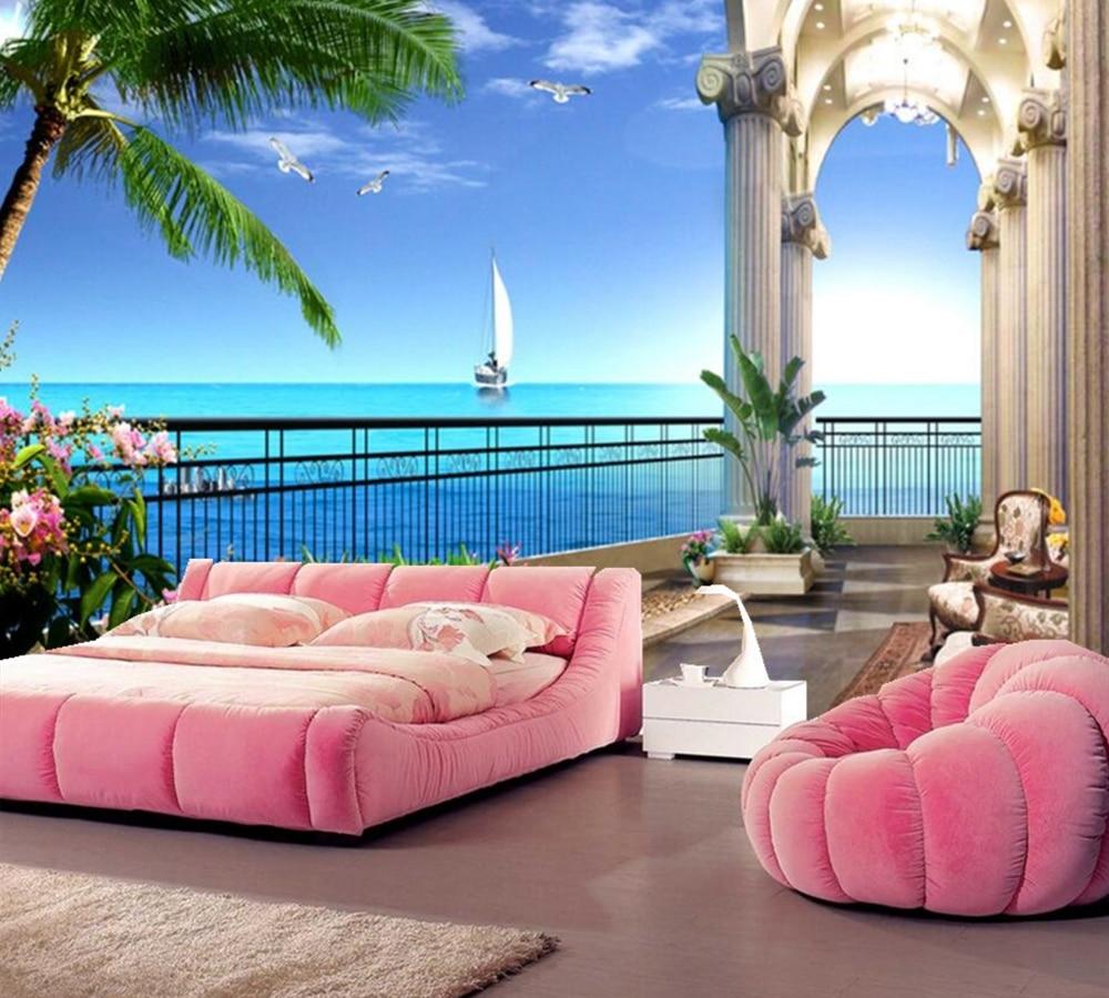 Papel De Parede Beautiful Ocean View 3d Wallpaper,living