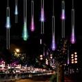 20/30/50 CM Luzes De Natal Ao Ar Livre Cortina de LED Luzes Cordas Luzes da Decoração LED Barra de Luzes para Festa de casamento Seqüência de luz Ao Ar Livre