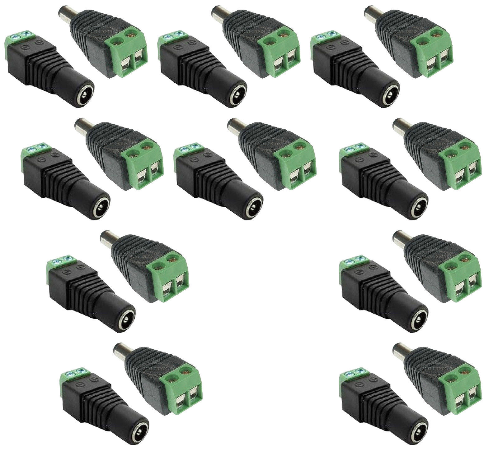 10 Pairs Male And Female 2.1x5.5mm 12V DC Power Jack Plug Adapter Connector CCTV zinuo 1pc dc power jack splitter adapter connector cable 1 dc female to 2 3 4 5 6 male plug for cctv camera led strip light