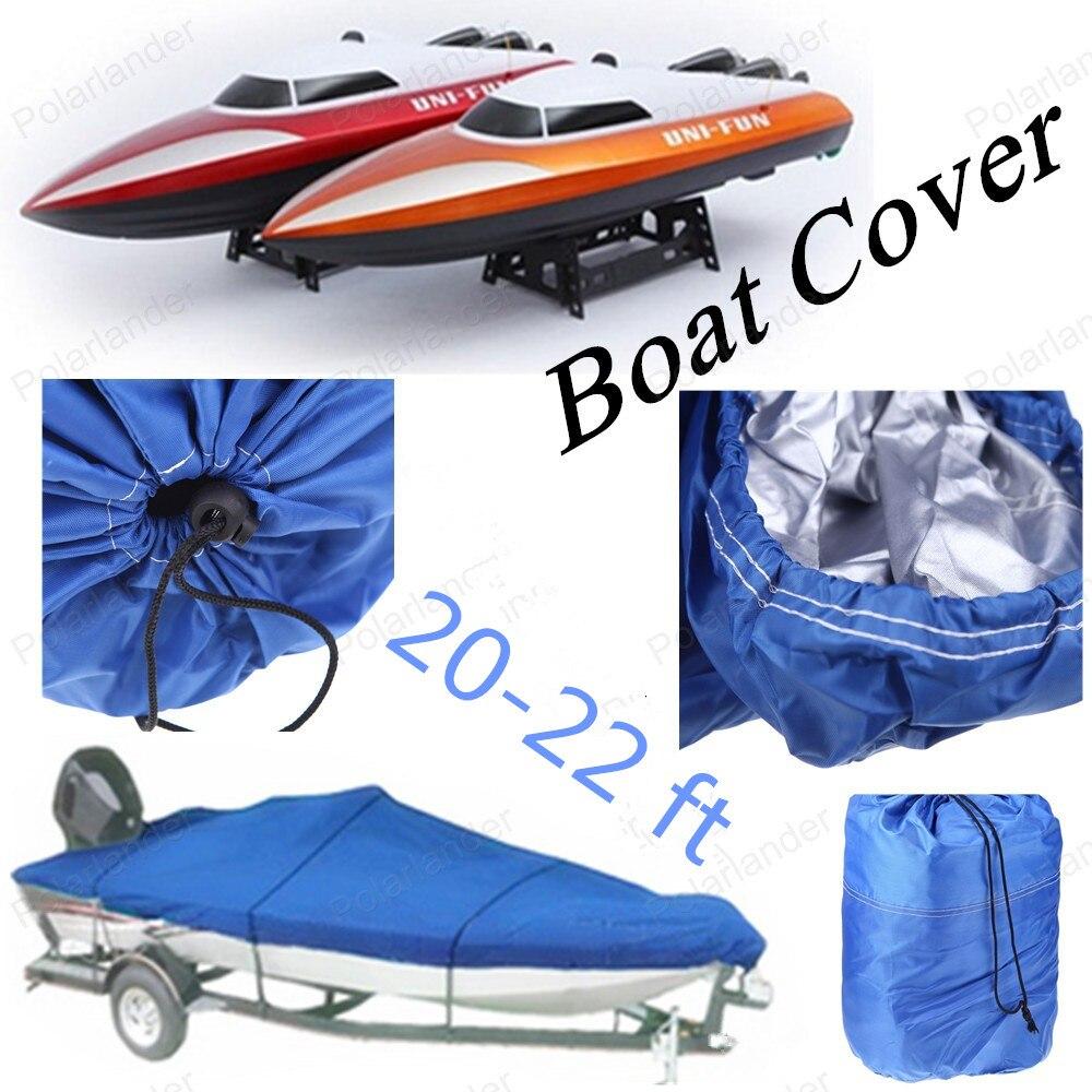 Couverture de bateau nouveau Ski de pêche résistant Runboat couverture de bateau 20-22 Ft 100 pouces faisceau v-coque étanche bleu imperméable Kit
