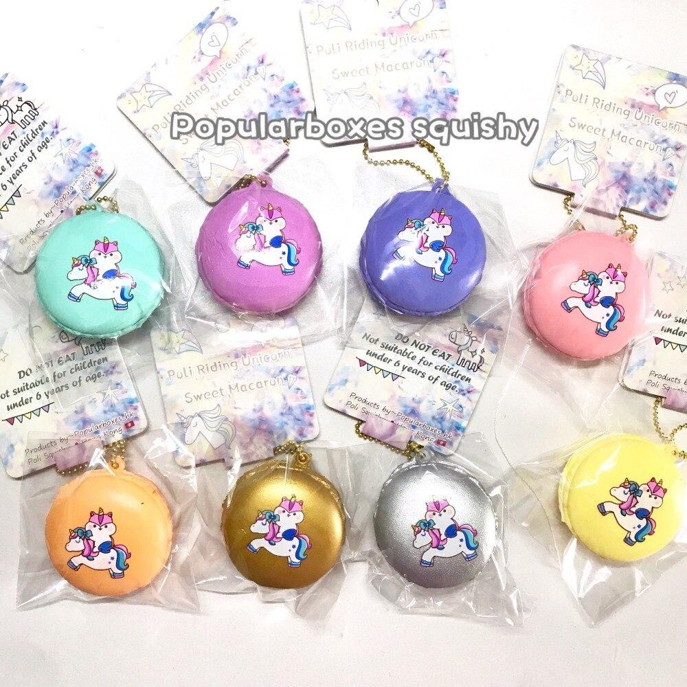 Popularboxes poli riding unicorn macaron squishy Slow Rising Gift Toy