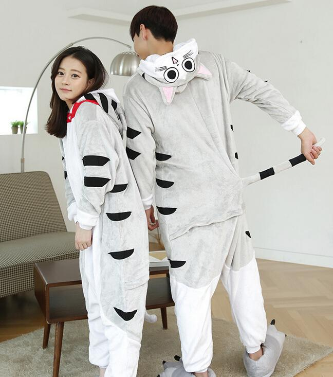freepp 2015 New Unisex Adult Pajamas Anime Cosplay Costume Onesie Sleepwear Chis Cheese Cat