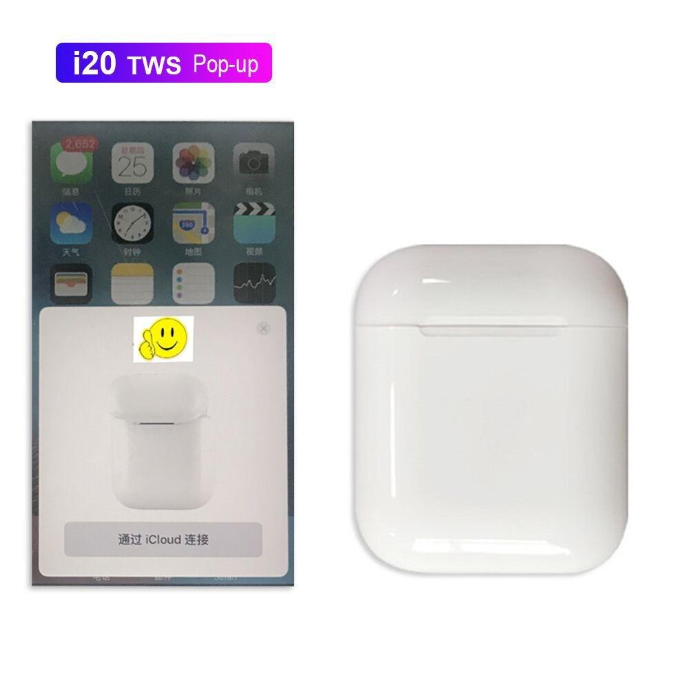 I20 TWS всплывающие  Сенсорная функция  wrieless зарядка Bluetooth 50 наушники 4D Супер Бас Звуковая гарнитура PK W1chip i10 i12 i13 купить на AliExpress