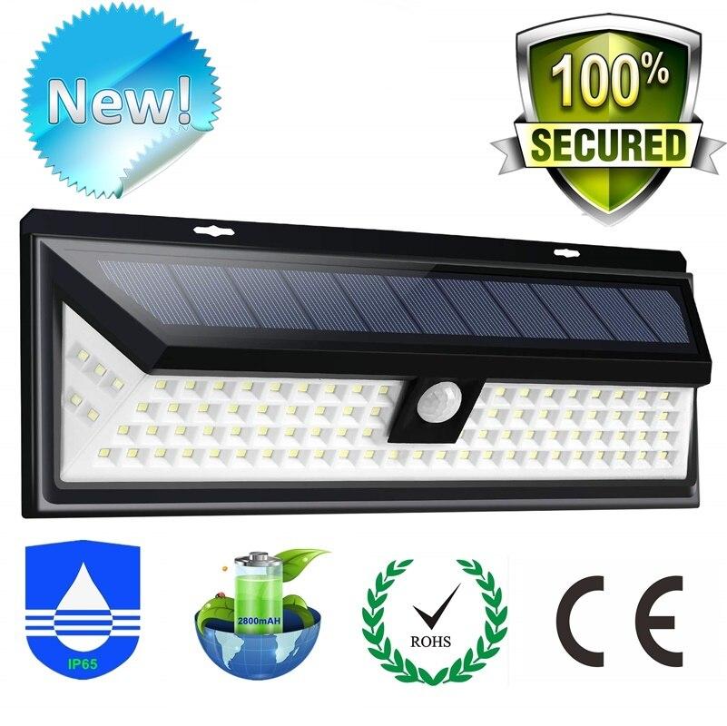 New Solar Light 118 LED PIR Motion Sensor Lamp Outdoors IP65 Waterproof Garden Lights Lampe Solaire Exterieur Emergency Lampara