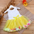 New Girls' Pink Rose Dress Girls Floral Clothes Cute Style Kids Clothes Princess Dress Beautiful Vestido Baby Tutu Girl Dress