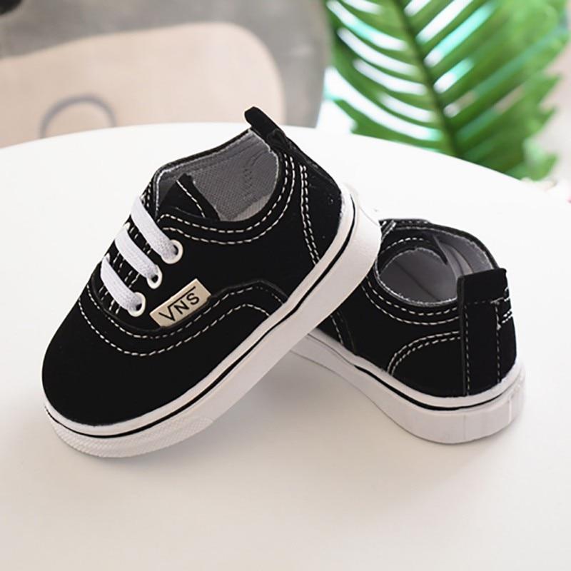 Newborn Infant Toddler Baby Boy Girl Spring Autumn Soft Bottom Spring Canvas Shoes Walkers Newborn 0- 24M