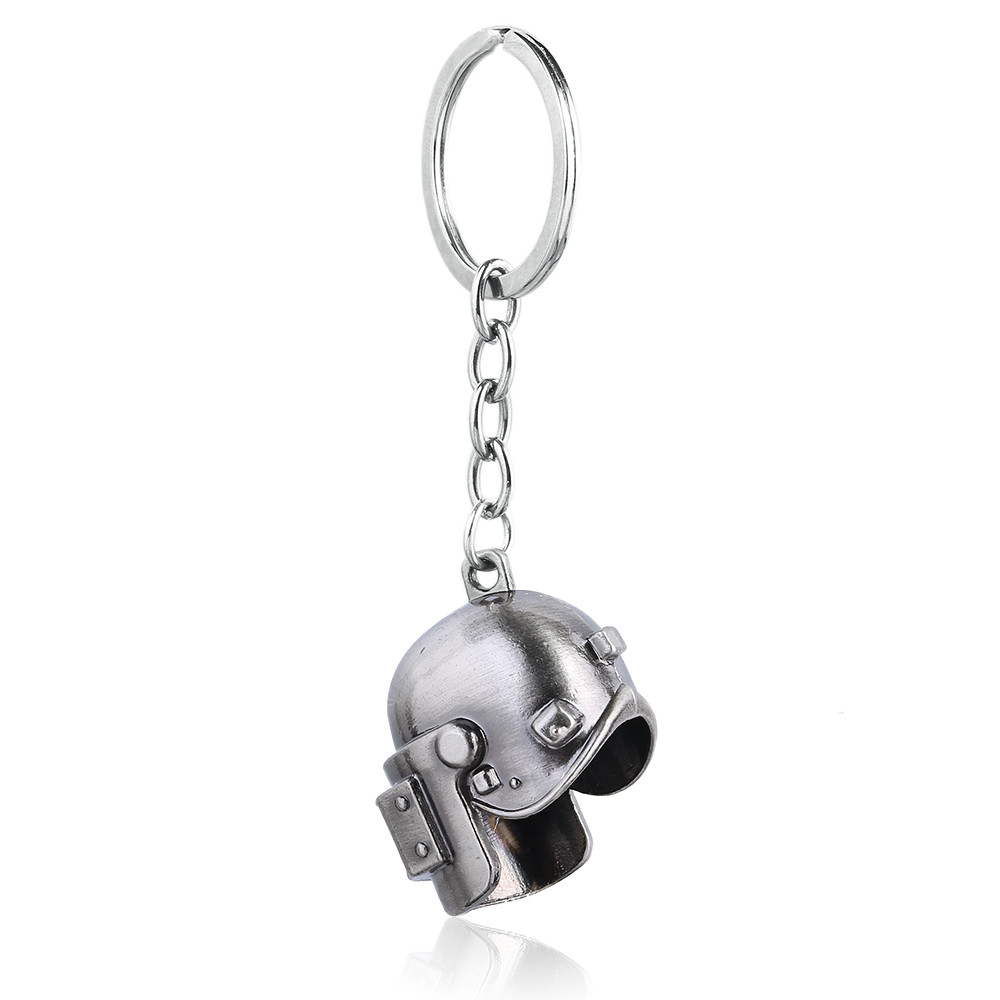 FPS Game Player Unknowns Battle Grounds 3D Keychain Special-Forces Level 3 Helmet Pan Alloy Keyring Jewelry Pendant Fans Gift