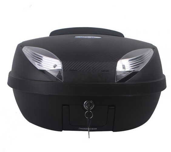 motorcycle tail box electric bicycle trunk scooter top case E66 52L