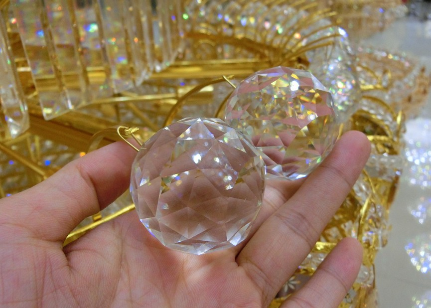 50mm clear crystal chandelier lamp ball window suncatchers hanging 50mm clear crystal chandelier lamp ball window suncatchers hanging christmas ornament glass crystal prisms crystal lighting ball in chandelier crystal from aloadofball Image collections