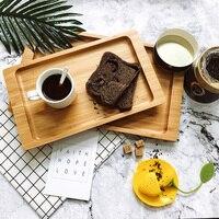 竹矩形茶トレイヨーロッパスタイル簡単なデザインラウンドコーナーコーヒー/食品サービス提供トレイクリエイティブフルーツメモ帳ウッドプレート