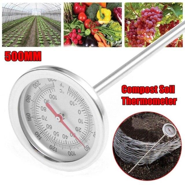 Compostagem Do Solo Termômetro 20 Polegada 50 cm Comprimento Premium Detector Sonda De Medição De Metal Aço Inoxidável de Produto Comestível