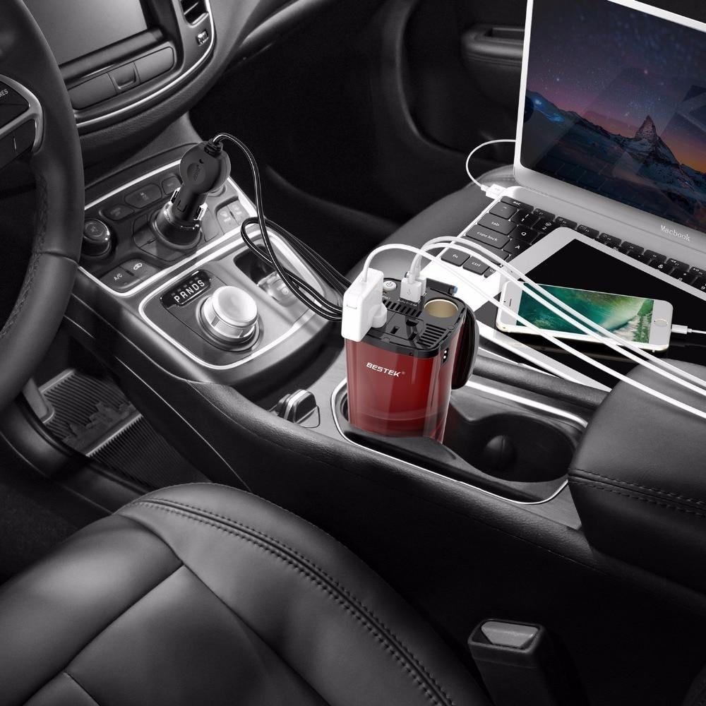 Bestek Converter 12v To 110v Dc Ac Inverter Dual Usa Outlet Usb Charging Ports 4 5a Adapter Socket In Car Inverters From