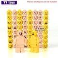 Fresco Cara Emoji Expresión 32 unids 64 unids Muñecas Mini Amarillo y Carne bloques de construcción de color piel hombre boy kids diy navidad juguetes aficiones