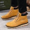 8 Colores de Los Hombres Botas de Invierno Botas de Cuero Artifitical Hombres Zapatos de Invierno Botines de Piel de Los Hombres de Nieve Botas Hombre Chaussure Homme