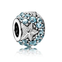 Maxi Big Statement Hollow Crystal Love Hearts Stars Flowers Beads Charms Fit Pandora Bracelets Necklaces for Women DIY Jewelry(China)