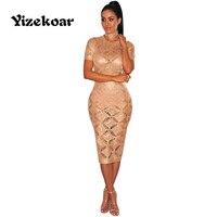 Yizekoar Fashion hoge kwaliteit 2018 Nieuwe vrouwen zomer Jurk Pailletten vestidos knielange jurk snapback grand bape top party jurk