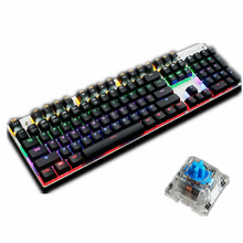 ZERO Customizable Backlight Mechanical Gaming Keyboard 87/104 Keys Black/Blue Switches LED Metal Wired USB Keyboard for Game