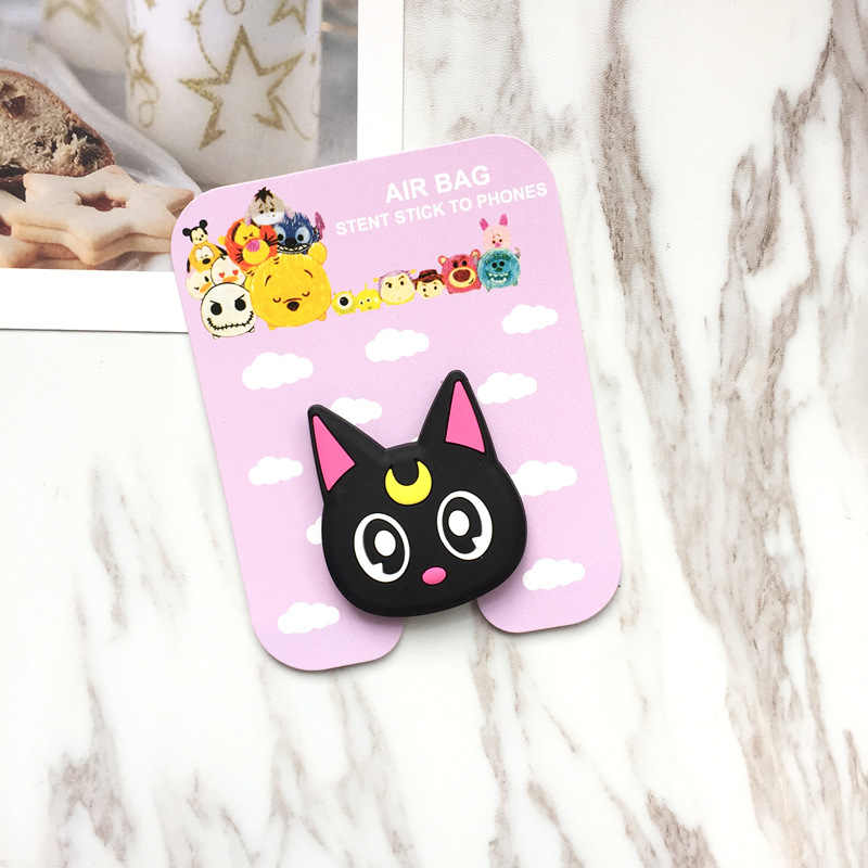 ... Hot Sales 3D Soft Silicone Universal Mobile Phone Holder Stand Cute Pop  socket Gasbag Cartoon Kitty 80ab4475c79f