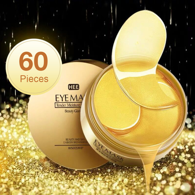Moisturizing Gold/Seaweed Collagen Eye Mask Care 60Pcs Anti Aging Patches Dark Circles Eye Bags Remove Eye Mask Skin Care 1