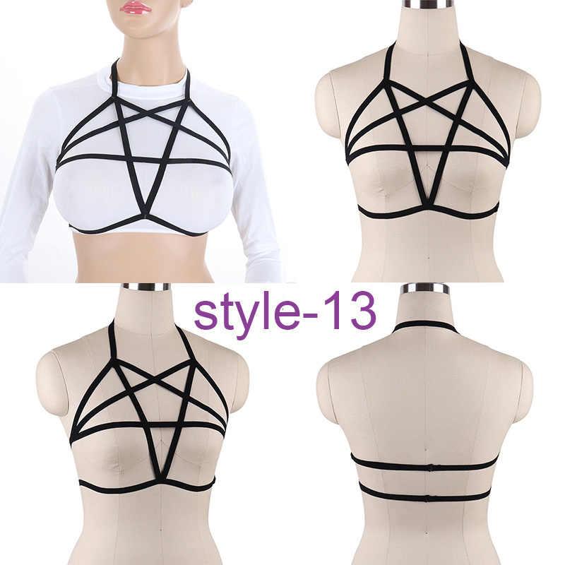 691878f31ede67 Fashion Women Harness Bra Body Crop Top Spandex Gothic Cage Bra Sexy Body  Stocking Goth Harajuku