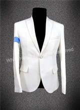 white blazer men fashion jacket 2018 white jacket man Michael Jackson black & white jacket blazer homens