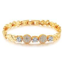 Модные аксессуары золотистый браслет из титановой стали женский