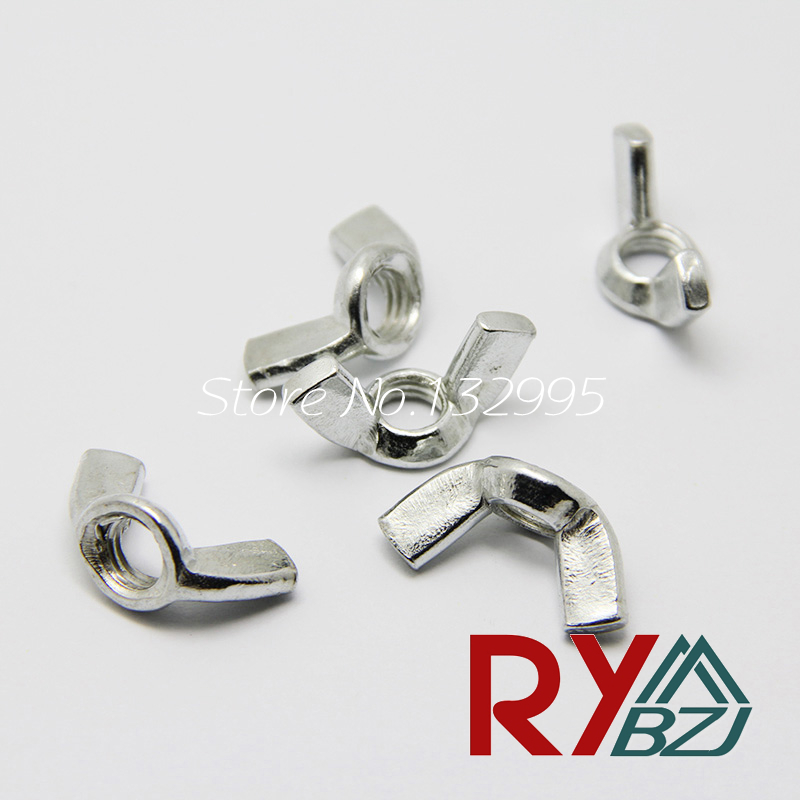 M3 M4 M5 M6 M8 M10 M12 DIN315 Wing Nut Hand Twist Nut thumb nut butterfly nut zinc plated Carbon steel DIN315 цена