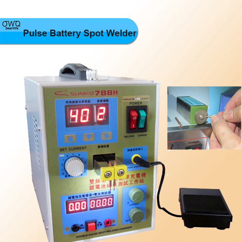 220v 110v new upgrade led lighting 788h double pulse precision 18650 spot welder battery welder with usb output for repair 1PC Pulse Battery Spot Welder 788H(788+)Welding Machine Micro-computer Battery Charger 800 A0.1 - 1.0mm 36V