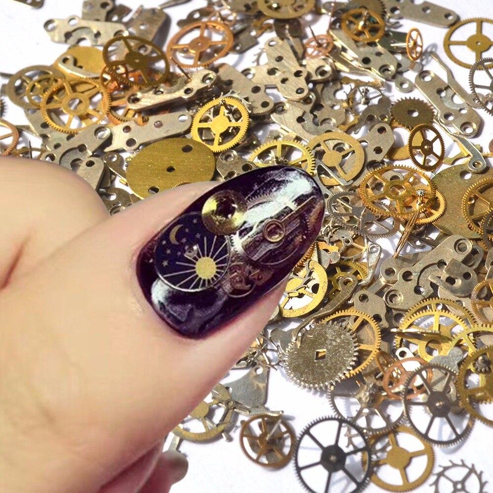 Zuversichtlich Zko 1 Paket Retro Goldene Uhr Getriebe Studs 3d Diy Nail Art Dekoration Für Nägel Salon StäRkung Von Sehnen Und Knochen Nails Art & Werkzeuge