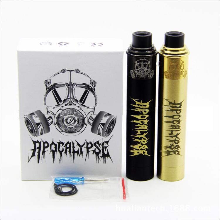 Apocalypse gen 2 Starter Kit with apocalypse gen 2 Mechanical Vape Mod and RDA Atomizer Black