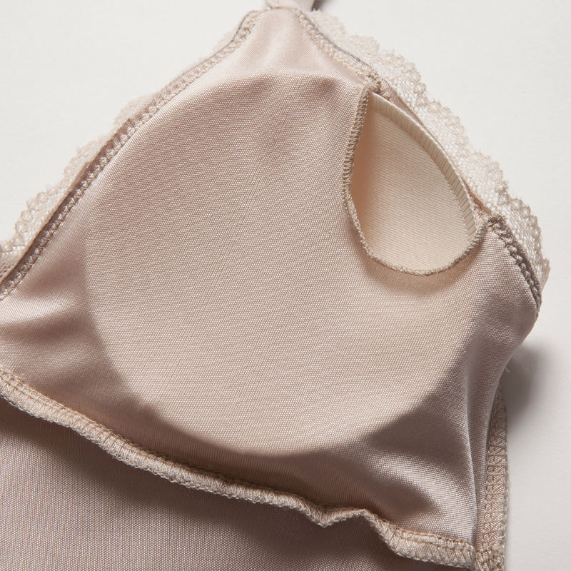 Women-Full-Slips-REAL-SILK-Sexy-slip-Solid-V-deep-neck-Anti-emptied-Padded-bra-slips (3)