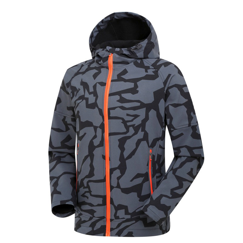 Men's Outdoor Soft shell Camouflage Jacket Waterproof Windproof Hiking Raincoat Men Camping Cycling Climbing Quick Dry Jacket