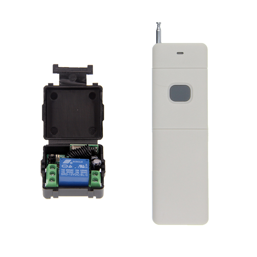 3000m Wide Range Mini Size DC 12V 1CH 1 CH 10A RF Wireless Remote Control Switch System, Receiver+ Transmitter ,315/433 MHz new ac220v 1ch 1channe rf wireless remote control switch system 1x transmitter 4x receiver 315 433 mhz