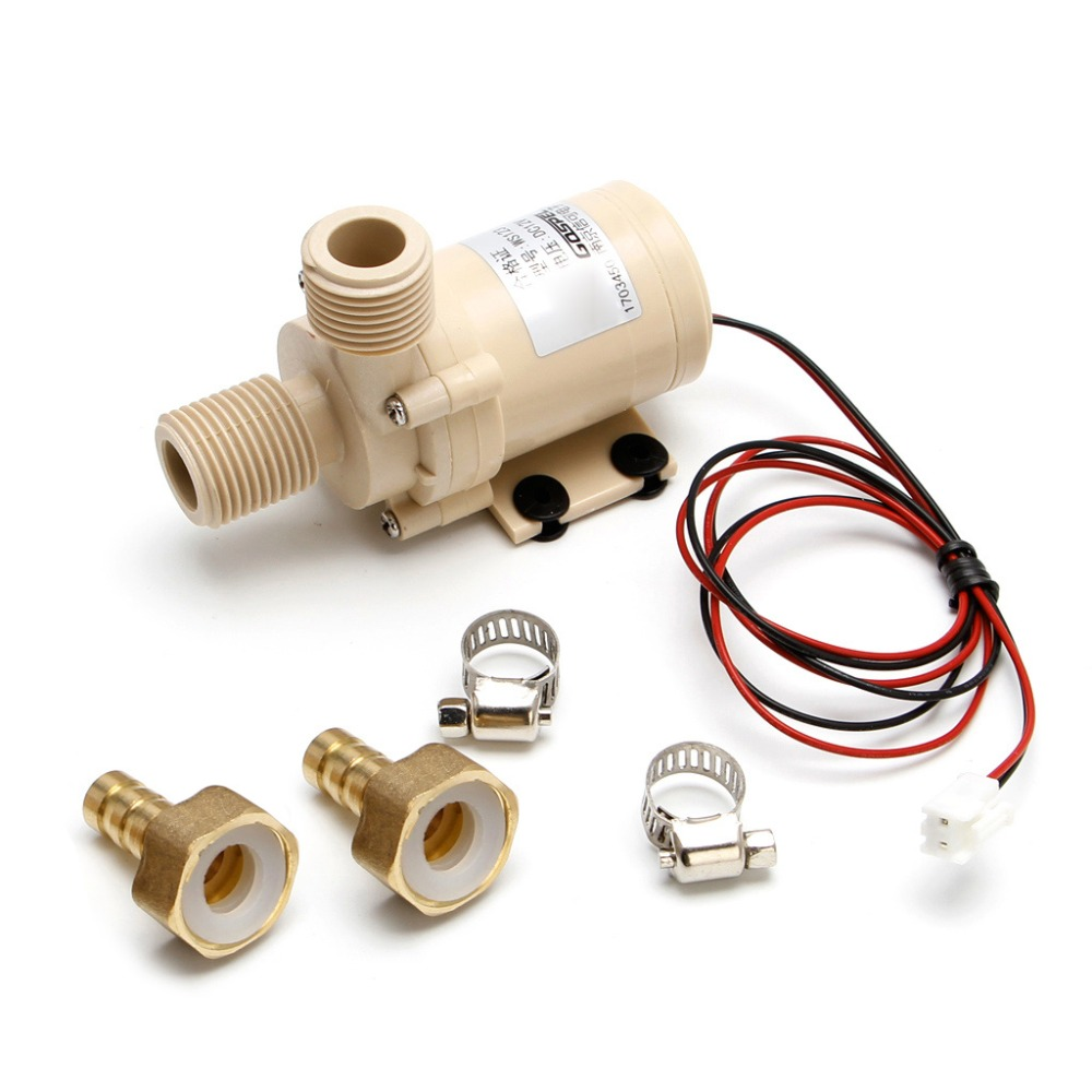 DC 12V Solar Submersible Hot/Cooling Water Pump Circulation 212 Degree F Brushless Motor High Pressure Pumps
