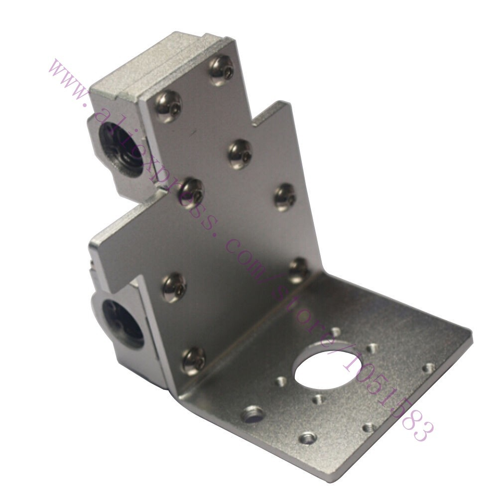 Reprap Prusa i3 3D Printer Parts X Axis Printing Head X Metal Exturder Carriage Aluminum Alloy 45mm Hole Distance
