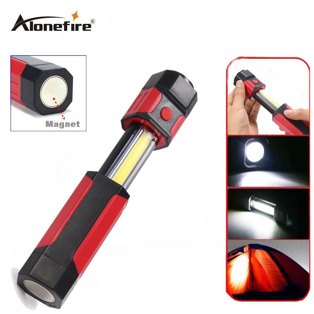 Charitable Alonefire C015 Cob Led Flashlight Work Light Strong Magnetic Rotation Flashlight Camping Light Lamp Torch More Discounts Surprises Led Flashlights