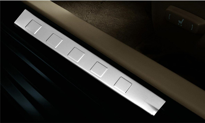 Stainless Steel Inner Door Sill Plate Trim 4pcs for Nissan X-Trail X trail T31 2008 2009 2010 2011 2012 2013