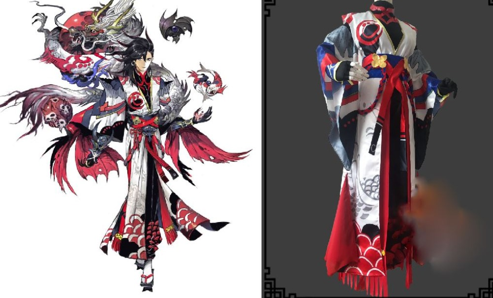 Мужской костюм для косплея ONMYOJI Huang Awake SSR Shikigami, компьютерная игра, аниме Onmoji Arena, финальная борьба! Пинг ан Цзин кос