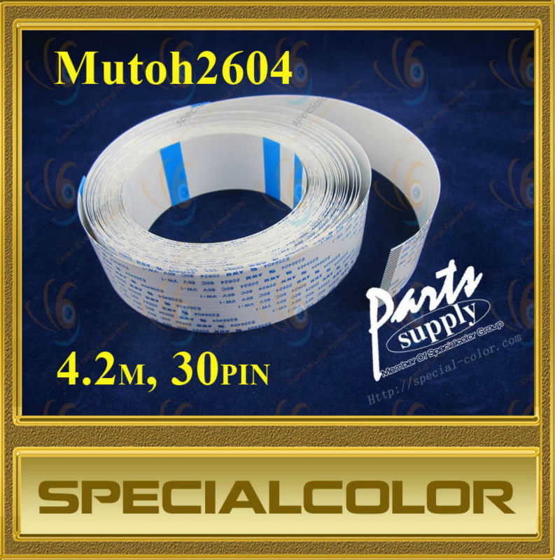 Flex head cable for Mutoh2604 printer (4.2M 30PIN) best price 5pin cable for outdoor printer