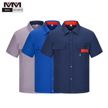 Work Wear Set Summer Clothing Cool Short Sleeve Jardineira Workshop Uniforms Auto Repair Suit Jackets Coveralls Overol Trabajo(China)