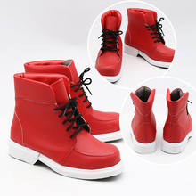 New My Hero Academia Izuku Midoriya Cosplay Shoes My Hero Academia Cosplay Boots Lace-up PU Leather Shoes Euro Size 35-44 недорго, оригинальная цена