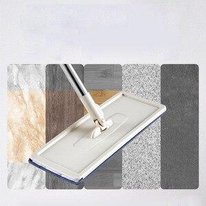 Image 4 - ניקוי מגבים בית רצפת סמרטוט מיקרופייבר רטוב לנגב עם דלי בד שטוח לסחוט תרסיס אמבטיה מטבח נקי משלוח יד ספין