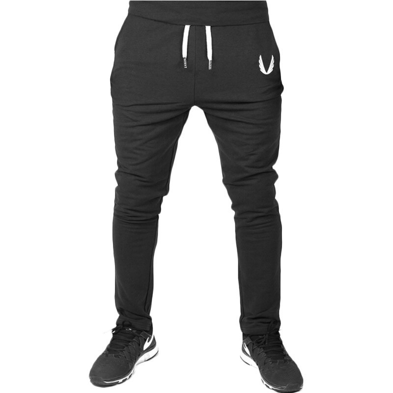 New 2017 Men Gyms Pants Tracksuit Elastic Cotton Fitness Skinny Joggers Sweat Pants Pantalones Chandal Hombre Casual Trousers