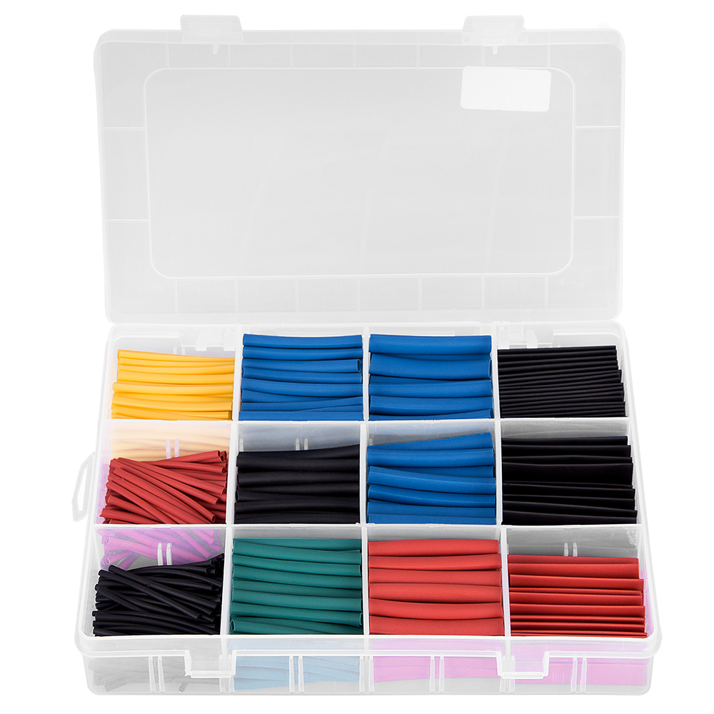 200pcs Heat Shrink Wire Terminals Kit 560pcs Heat Shrink Tube Waterproof Heat Shrink Butt Connectors Electrical Wire Splice 430pcs cold pressed wire connectors insulated splice terminals heat shrink tube kit red