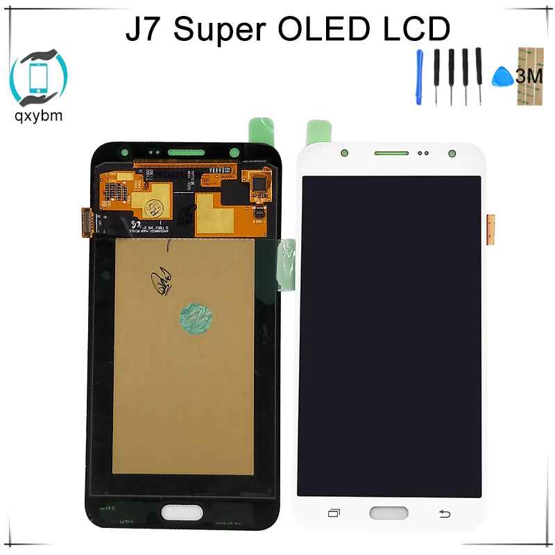 Super OLED 5.5 For Samsung For Galaxy J7 2015 J700 J700F J700M J700H LCD Display Touch Screen Digitizer Assembly + 3M StickerSuper OLED 5.5 For Samsung For Galaxy J7 2015 J700 J700F J700M J700H LCD Display Touch Screen Digitizer Assembly + 3M Sticker